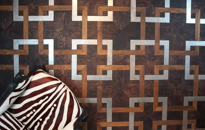 Parquet-oak-metal-industrial
