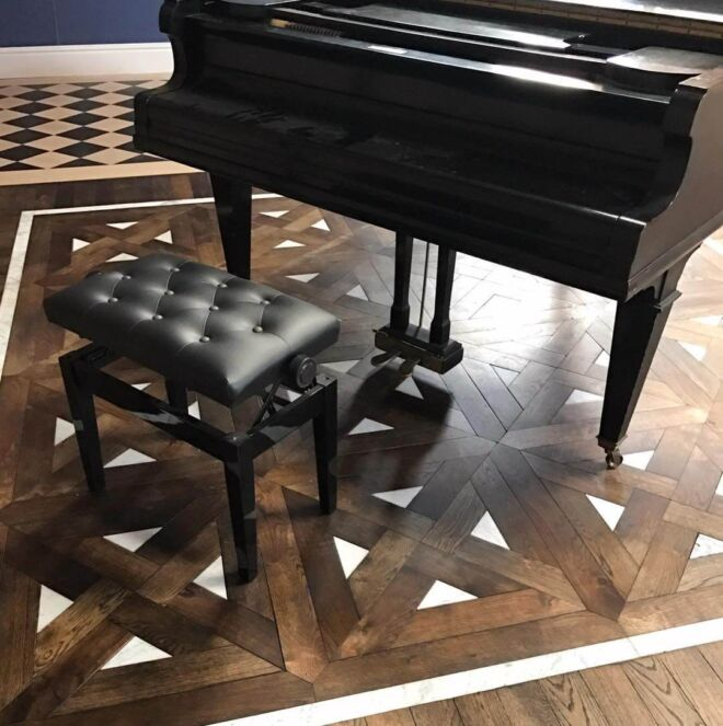 oak du maurier with marble inlay