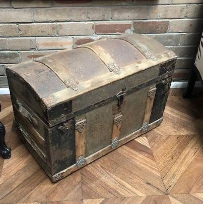 Old and dusty trunk