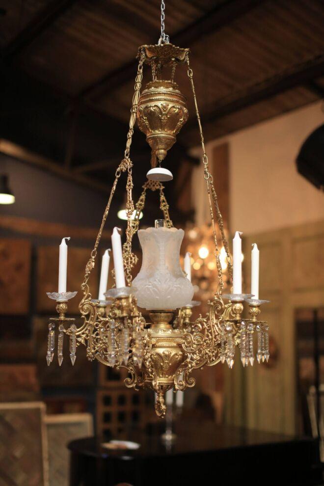 Ceiling Kerosene lamp from Governors villa