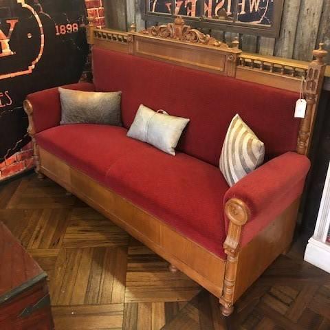 Oak Sofa with high back