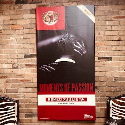 Cigar poster from Bar Monserrate