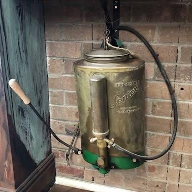 Old plantsprayer in brass